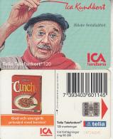 SWEDEN(chip) - ICA Member Card, CN : C47146045, 06/94, Used - Sweden