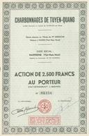 Indochine - Charbonnages De Tuyen-Quang / Action De 2.500F - 1954 - Asie