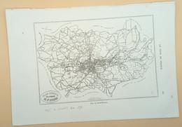 Carte Géographique St. Etienne 1876/ Geographical Map St. Etienne 1876 - Cartes Géographiques