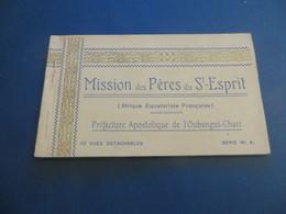 AFRIQUE EQUATORIALE FRANCAISE ,missiondes Péres Du Saint Esprit OUBANGUI-CHARI , Carnet Serie 4 - Cartes Postales