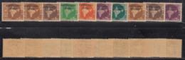 10 Diff., , Oveerprint Of Vietnam, Laos And Combodia On Map Series, Watermark Ashokan, India MNH 1962-1965 - Franchise Militaire