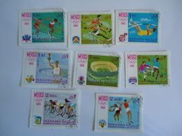 MANAMA  USED SET 8  STAMPS OLYMPIC GAMES  MEXICO 1968 - Verano 1968: México