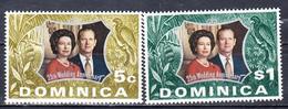 DOMINIQUE - 1972 - Silver Wedding  -Yvert 346/347  Neufs ** (L517-4) - Dominique (1978-...)