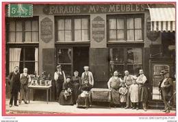 PHOTOCARTE CPA 69 LYON MEUBLES PARADIS Devanture Horlogerie Bijouterie 1907 57 Rue Des Tables Claudiennes ( D100 ) Photo - Lyon 1