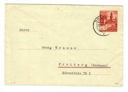 GG 1941: Ganzsache U2 01, Krakau Nach Freiberg - Besetzungen 1938-45