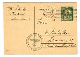 GG 1942: Ganzsache P10 Regierung -17-  Krakau Nach Hamburg - Occupation 1938-45