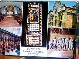 SONCINO CHIESA S GIACOMO VEDUTE  STAMP  2018 €0,95 MARIA GAETANA AGNESI  HL5322 - Cremona