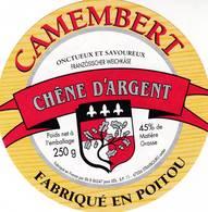 ETIQUETTE FROMAGE - CAMEMBERT  -  LIDL  -  Fab En POITOU VIENNE  86-B - Cheese