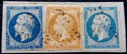 0203 - Sur Papier - 3 Timbres : 14 A, 13A, 14 A - PC 3704 Alexandrie Égypte Des Bureaux Français à L'étranger - 1853-1860 Napoleon III