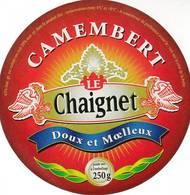 ETIQUETTE FROMAGE - CAMEMBERT - LE CHAIGNET -   ALDI -   Fab En FRANCE - Cheese