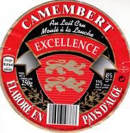 ETIQUETTE FROMAGE - CAMEMBERT - EXCELLENCE -  ALDI -   Fab En NORMANDIE FR 14.478.01 - Cheese