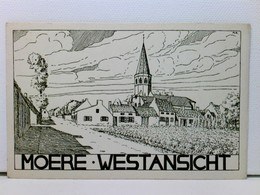 Künstler-AK Moere Westansicht; Ca. 1915, WK 1; Belgien - Niederlande