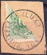 TX1 Demi-timbre Sur Fragment Oblitération BRUXELLES (LUX.) - Stamps