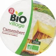 ETIQUETTE FROMAGE - CAMEMBERT - BIO  VILLAGE -  LECLERC -   Fab En FRANCE - Cheese