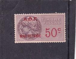 Timbre Fiscal A.O.F Mauritanie 50 C MNH *** - Mauritanien (1906-1944)