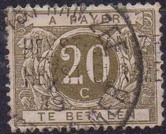 TX6A (oblitéré - Used) Griffe HEYST-AAN-ZEE / HEYST-SUR-MER (défauts) - Stamps