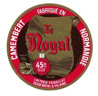 ETIQUETTE De FROMAGE..CAMEMBERT Fabriqué En NORMANDIE ( 14 AF)..Le Noyal..TRIBALLAT à NOYAL Sur VILAINE ( 35).. .250 G - Cheese