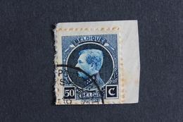 BELGIQUE 1921-25 PETIT MONTENEZ Y&T NO 187 OBLITERE SUR FRAGMENT.. - 1921-1925 Petit Montenez