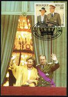 """Belgique - C.O.B. N° 2621 Sur CM - Oblitération 1 Ier Jour """"BRUXELLES-BRUSSEL - 15-11-1995"""" - Fête De S.M. Roi ALBERT II - 1991-2000"""