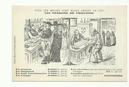 BELGIQUE C.P. Tous Les Belges Sont égaux Devant La Loi - Les Pensions De Vieillesse  - W0599 - Evènements