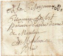"""Linéaire """"36 TOURS"""",L.A.C. Du 9 Nivôse 1793. - 1701-1800: Precursori XVIII"""