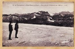 X74198 SEMNOZ -LA TOURNETTE Et Le MONT-BLANC En Hiver Vue Prise Du.. Altitude 1800 M Haute-Savoie 1920s A.C 92 - Chamonix-Mont-Blanc