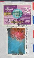 TAIWAN 1977 / 1981 - 2 VALORI USATI SU FRAMMENTO - 1945-... République De Chine