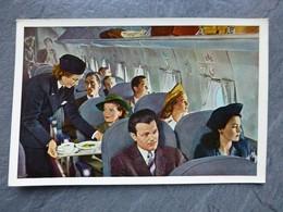 AVIATION Hôtesse De L'air, Intérieur Cabine DOUGLAS DC 4 ; Ref 1200 ; CPA02 - 1946-....: Ere Moderne