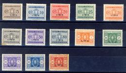 1933 - Libia Segnatasse Serie Completa. - Libye