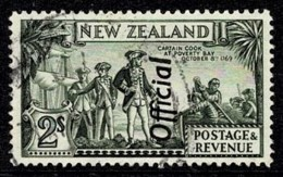 New Zealand 1939 Captain Cook 2/-  P 13.5 X 14 OFFICIAL Used SG O132b - 1907-1947 Dominion