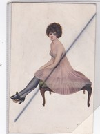 René Carrère ,pinxit : Danseuse .Salon De Paris.Jolie Femme En Tenue Très Sexy - Donne