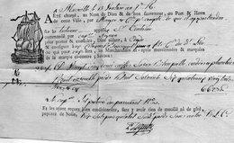 Connaissement De MARSEILLE à AGDE,L.A.C. Du 13 Ventôse An 7,marque 57X12mm. - 1701-1800: Voorlopers XVIII