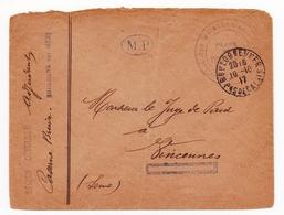 Lettre 1917 Boulogne Sur Mer Pas De Calais Caserne Bruix Seguin Devulder - Lettres & Documents