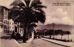 CPA S.MARGHERITA Ligure-Via Principe Federico Guglielmo ITALY (497503) - Altre Città