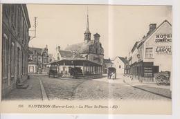 CPA-28-Eure Et Loir- MAINTENON- La Place Saint-Pierre- - Maintenon