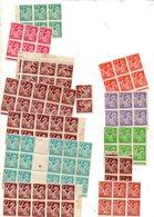 St Divers Type Iris En Blocs Neufs  Pour Etude De Varietes - Unused Stamps