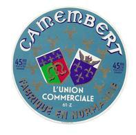 ETIQUETTE De FROMAGE..CAMEMBERT Fabriqué En NORMANDIE ( Orne 61-Z)..L'Union Commerciale - Cheese