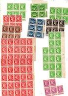 St Divers Type Ceres Mazelin En Blocs Neufs  Pour Etude De Varietes - Unused Stamps