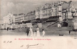 CPA Blankenberghe, Les Hôtels De La Digue, Animée - Blankenberge