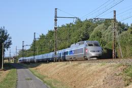 Montboyer (16 - France)  28 Août 2009 - Un TGV Atlantique Assurant Une Circulation Paris Montparnasse/Bordeaux - France