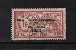 France Timbre  De 1923 Congrès Philatélique De Bordeaux N°182 Oblitéré Cote 625€ - France