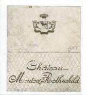 Etiquette . CHATEAU MOUTON ROTHSCHILD - ANNEE 1928 - - Bordeaux