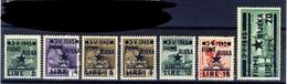 1945 - Monumenti Distrutti Soprastampati Fiume Serie Completa MNH** - Occup. Iugoslava: Fiume