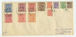 1954 Nepal - King Tribhuvana, Full Set Of 12v, FDC Sent To India, Premiere Jour ,Mi. 68/79 Scott 60/71 SG73/84 - Nepal