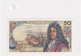 Billet De 50 Francs RACINE Du 3 Juin 1971 - 75257 Alph E. 179 @ N° Fayette : 64.18 - 1962-1997 ''Francs''