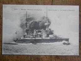 """CPA - Marine Militaire Française """"Saint-Louis"""", Cuirassé D'Escadre - Guerra"""