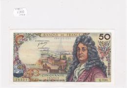 Billet De 50 Francs RACINE Du 6 MARS 1969 - 24521 Alph Q. 134 @ N° Fayette : 64.13 - 1962-1997 ''Francs''