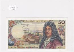 Billet De 50 Francs RACINE Du 6 MARS 1969 - 24500 Alph Q. 134 @ N° Fayette : 64.13 - 1962-1997 ''Francs''