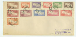 1954 Nepal - Maps 12 V.,Landkarte, Mappa, Cartes, FDC Sent To India, Scott 72/83 Yvert 61/72 Mi 80/91 - Népal