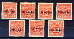 1918 - Occupazione Austriaca Del Friuli E Veneto - Segnatasse Di Bosnia Soprastampati Serie Completa MNH** - 8. Occupazione 1a Guerra